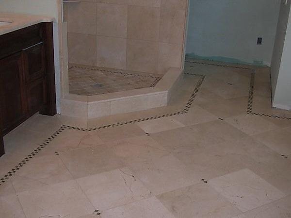 Bathroom floor design for Designer bathroom flooring
