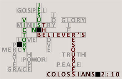 Victory In Jesus Theme Graphic