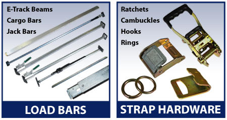 Load bars and strap hardware