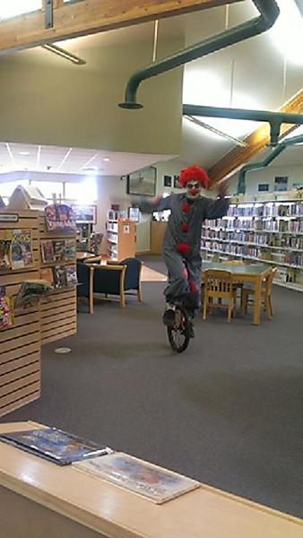 OUR LIBRARY FRIEND JAMIE CELEBRATES HALLOWEEN AT THE WHITEFISH COMMUNITY LIBRARY