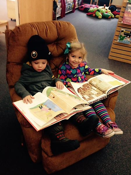 Meet new friends at the library and share your reading time