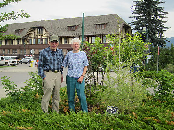 Gary and Mary Sloan were honored today with a tree ceremony