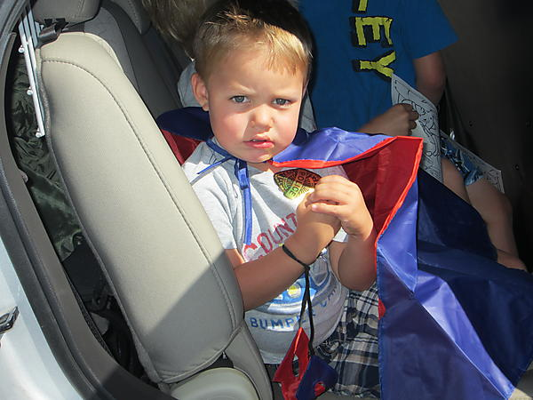 ONE LITTLE HERO WON A CAPE AND MASK
