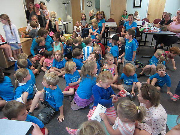 THE SUMMER READING PROGRAM PARTY WAS WELL ATTENDED WE HAD FUN ALL SUMMER LONG