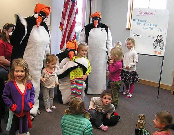 WINTER CARNIVAL PENGUINS VISIT FOR STORYTIME