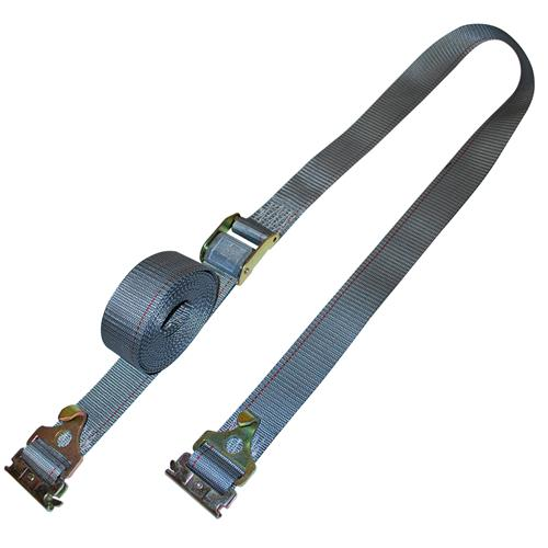 "2"" Cambuckle Strap with E-Track Fittings and Plate Trailer Hook"