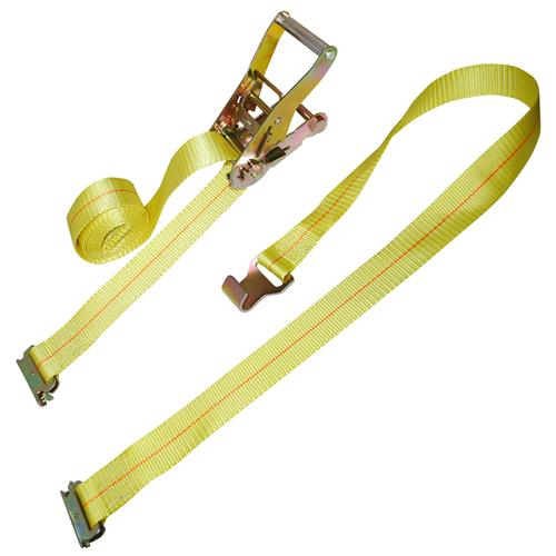 "2"" Ratchet Strap with E-Fitting and Narrow Flat Hook"