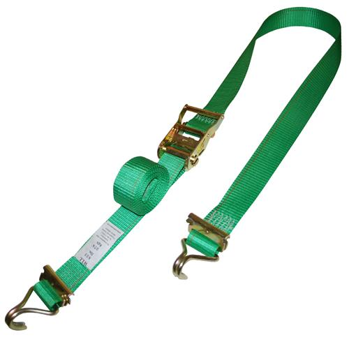"2"" Ratchet Strap with E-Track Fittings and Wire Hook"