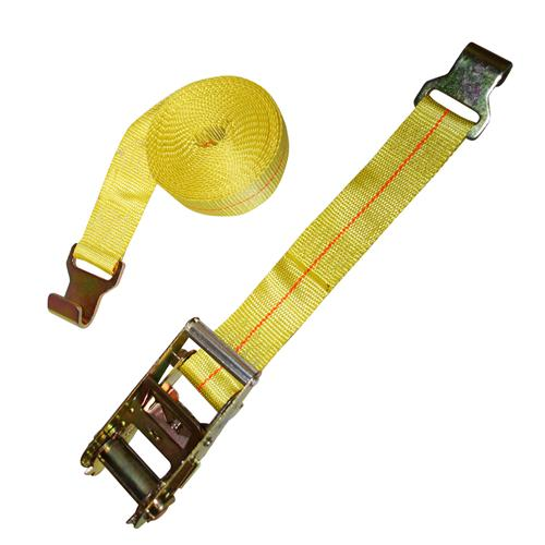 "2"" Heavy Duty Ratchet Strap with Narrow Flat Hook"