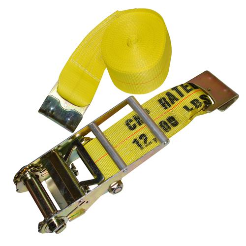 "4"" x 27' Ratchet Strap with Flat Hooks"