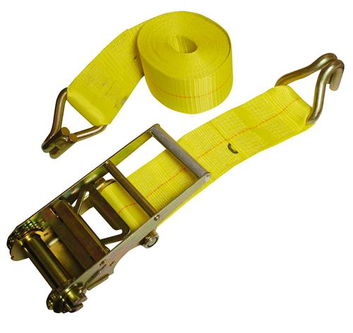 "4"" x 27' Ratchet Strap with Wire Hooks"