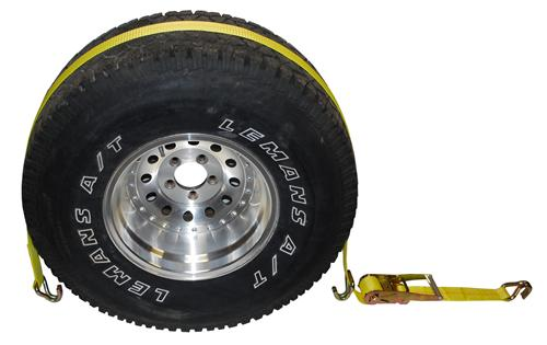 "2"" Auto Wheel Tie Down with Wire Hooks"
