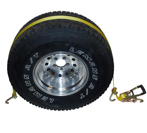 "2"" Auto Wheel Tie Down with Swivel Hooks"
