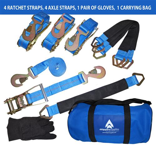 "2"" Axle Strap and Ratchet Strap SET"
