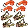 "2"" Lasso Straps with Ratchets 4-Pack"