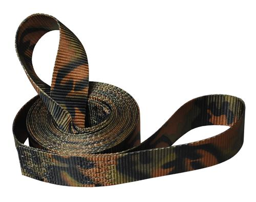 "2"" 1-Ply Camo Tow Strap with 8"" Eyes"
