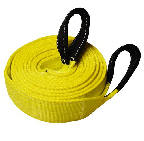 """3"""" 2-Ply Nylon Recovery Tow Strap with 10"""" Cordura Eyes"""