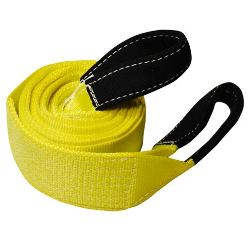 "4"" 1-Ply Nylon Recovery Tow Strap with 10"" Cordura Eyes"