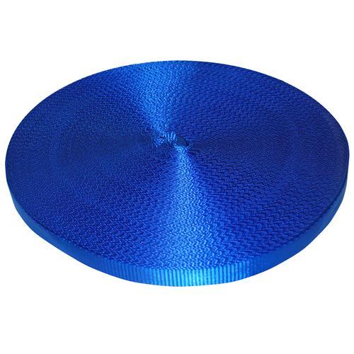 "1"" Blue Polyester Webbing 3,000 lb"