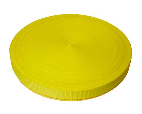 "2"" Yellow Polyester Webbing 6,000 lb"