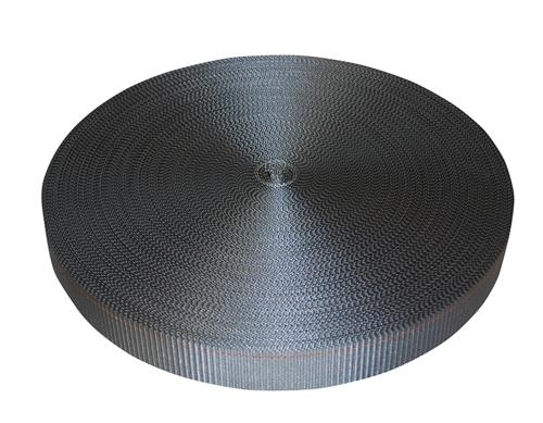 "2"" Gray Polyester Webbing 6,000 lb"