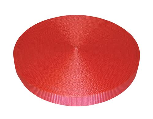 "2"" Red Polyester Webbing 6,000 lb"