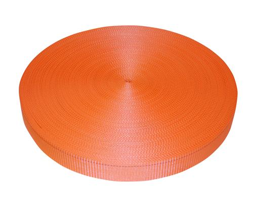 "2"" Orange Polyester Webbing 6,000 lb"