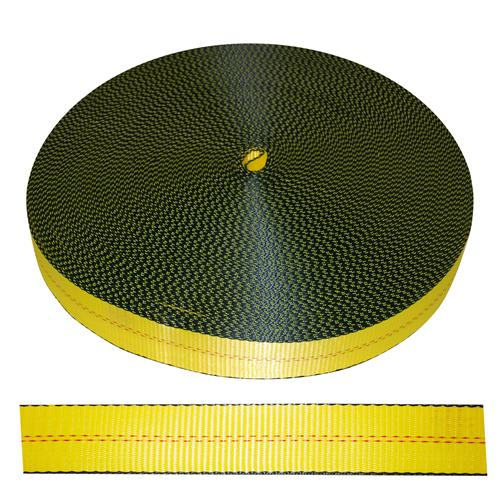 "2"" Yellow Polyester Webbing 12,000 lb"