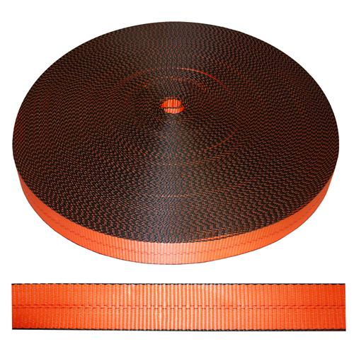 "2"" Orange Polyester Webbing 12,000 lb"