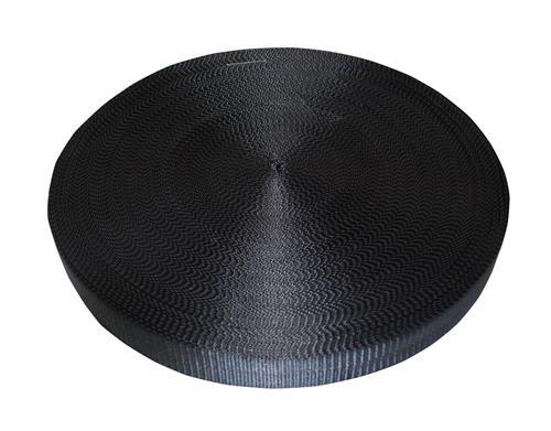 "2"" Black Polyester Webbing 12,000 lb"