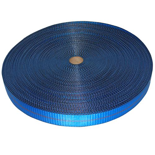 "2"" Blue Polyester Webbing with Edge Protection"