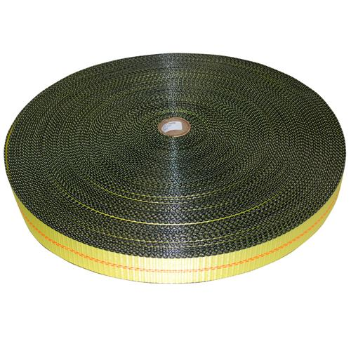 "2"" Yellow Polyester Webbing with Edge Protection"