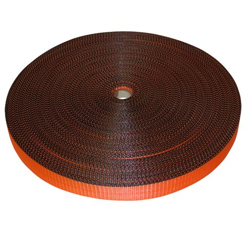 "2"" Orange Polyester Webbing with Edge Protection"