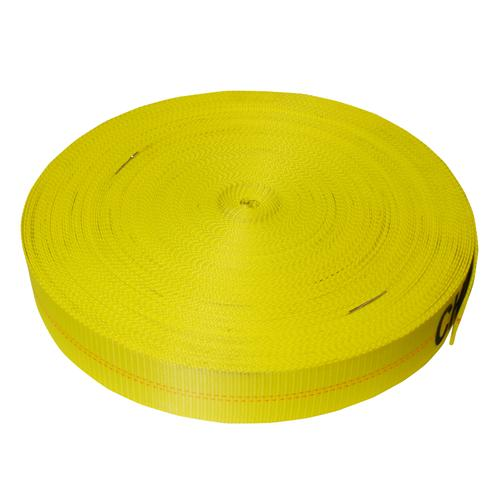 "3"" Yellow Polyester Webbing 18,000 lb"