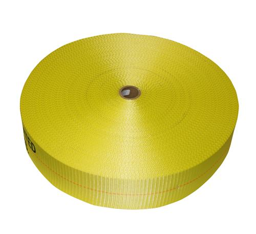 "4"" Yellow Polyester Webbing 20,000 lb"