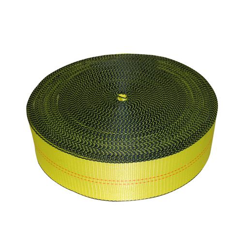 """4"""" Yellow Polyester Webbing 24,000 lb with Edge Protection"""