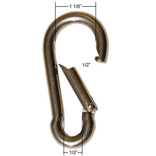 """Stainless Steel Snap Hook Carabiner 4"""" Length"""