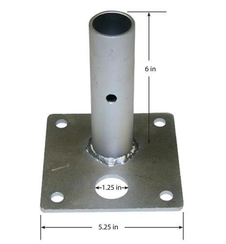 Base Plate Tent Frame Fitting