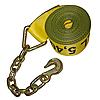 "4"" x 30' Custom Winch Strap with Chain & Hook"