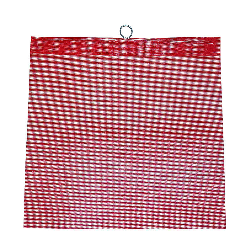Red Mesh Safety Flag