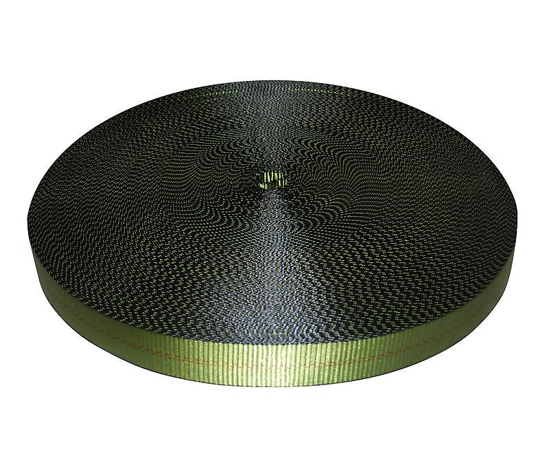 "2"" Olive Drab Polyester Webbing 12,000 lb"