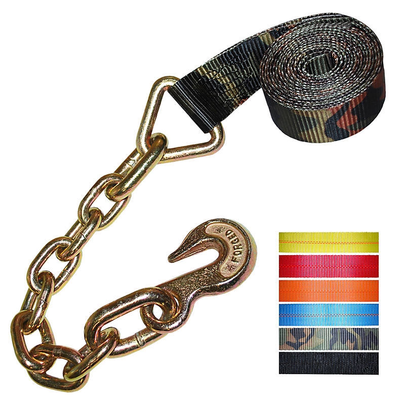 "2"" Custom Winch Strap with Chain Hook"