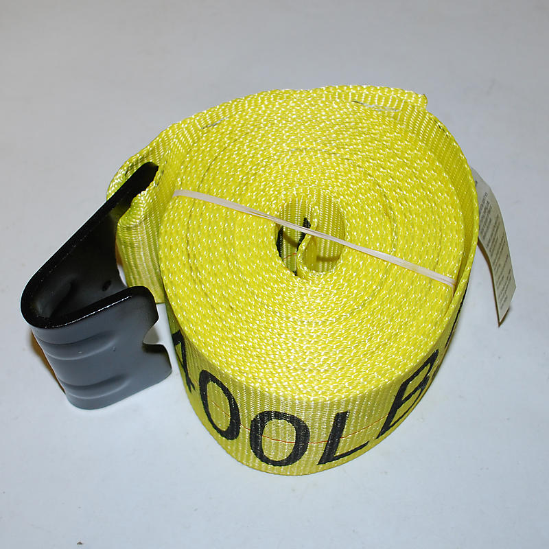 """4"""" x 20' YELLOW Winch Strap with Flat Hook"""