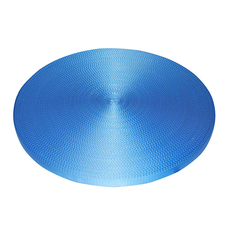 "1"" Blue Polyester Webbing 6,600 lb"