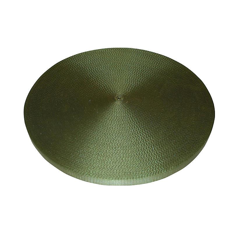 """1"""" Olive Polyester Webbing 6,600 lb"""