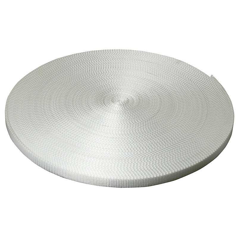 "1"" White Polyester Webbing 6,600 lb"
