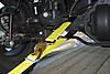 Axle Strap & Tie Down Combination In Use