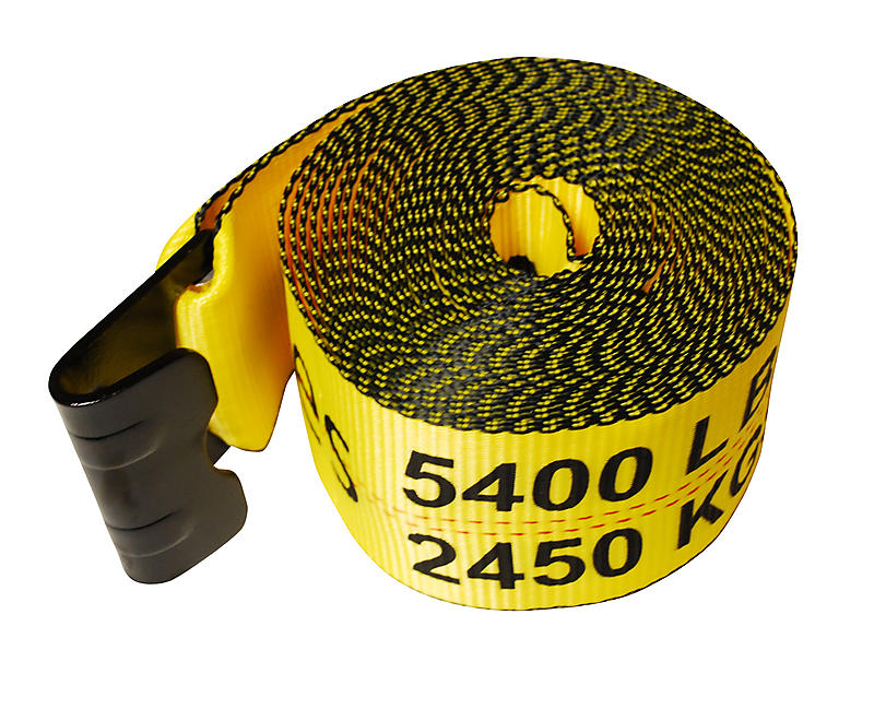 "4"" x 30' Winch Strap with Flat Hook"
