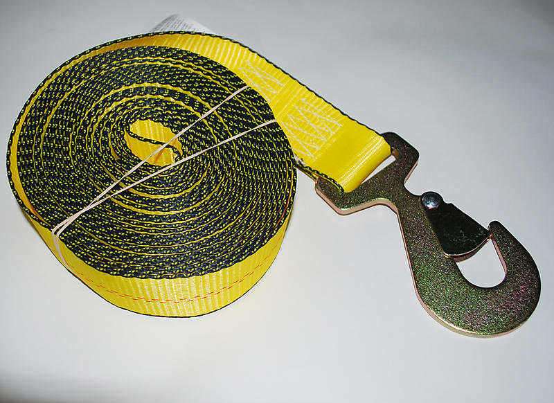 """2"""" x 30' YELLOW Winch Strap with Flat Snap"""
