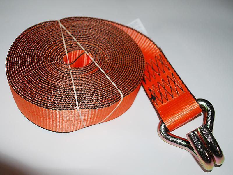 """2"""" x 27' ORANGE Winch Strap with Wire Hook"""
